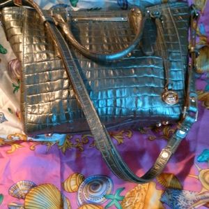 BRAHMIN DOUBLE HANDLE/CROSSBODY STRAP BAG